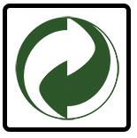 Nó tượng trưng cho tái chế nhưng không phải luôn luôn tái chế. Trong hầu hết các nước ở Châu Âu, nó có nghĩa là các nhà sản xuất đã có những đóng góp nhất định đối với việc tái chế bao bì