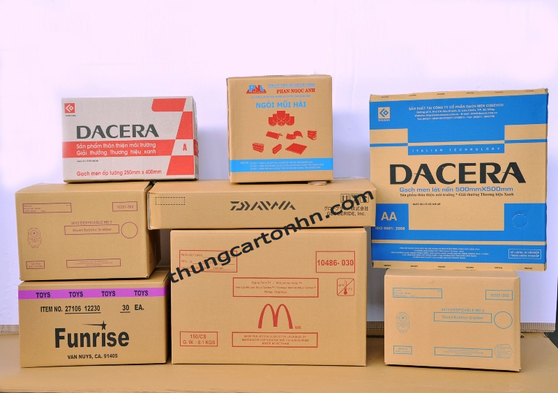 các sản phẩm đều được đóng gói bằng thùng giấy carton