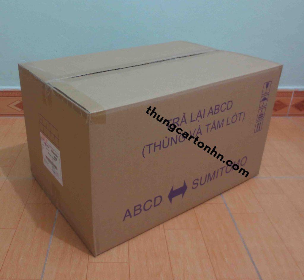 thùng carton 3 lớp ABCD