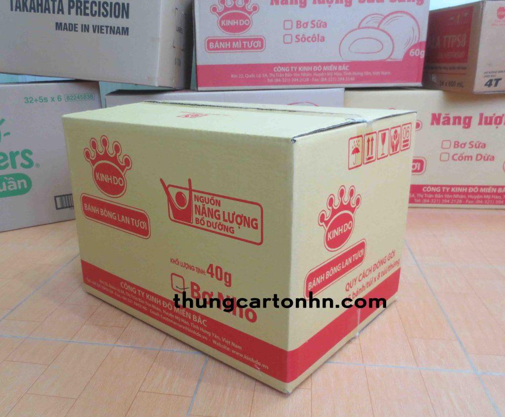 thùng carton 3 lớp kinh đô