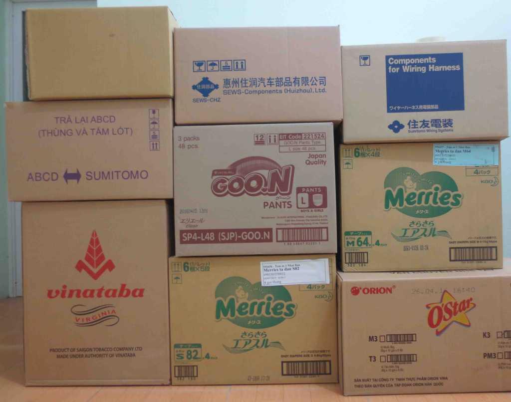 thùng carton cũ giá rẻ các loại