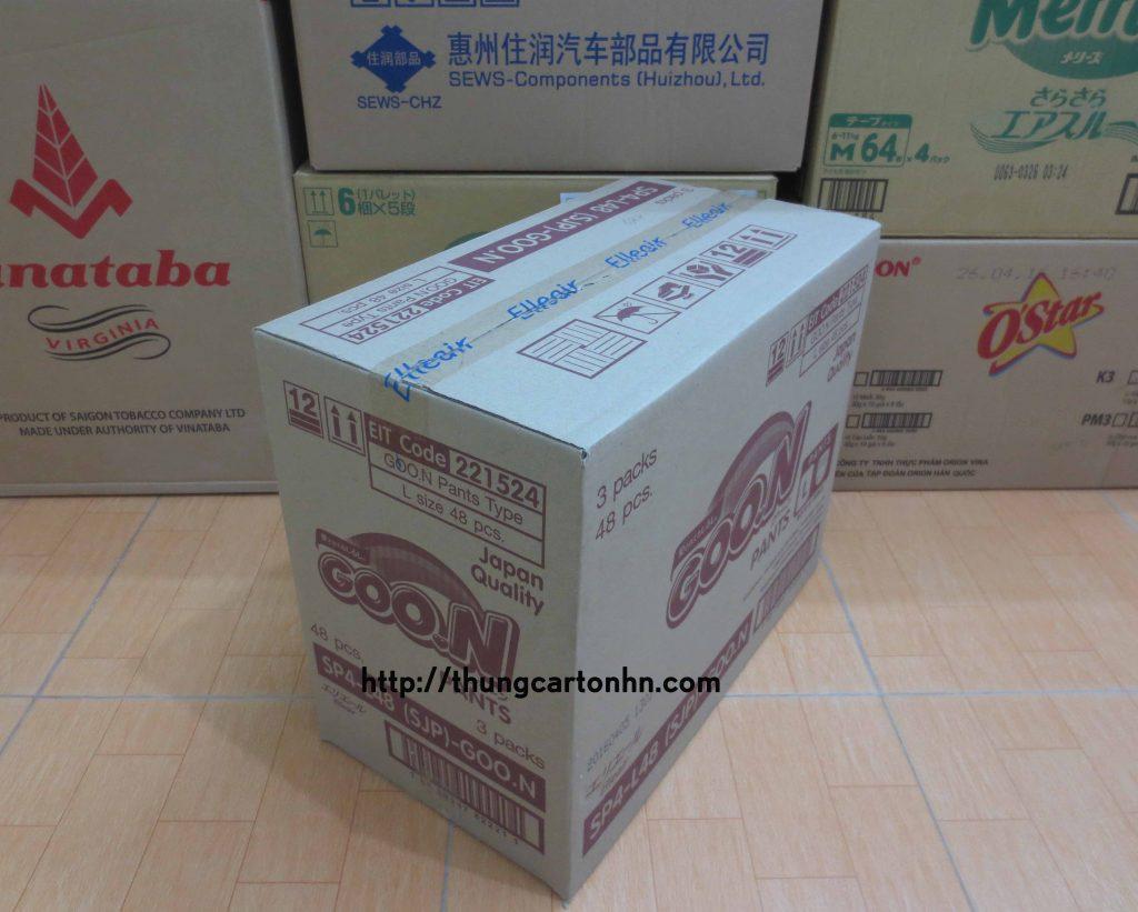 thùng carton cũ goon kích thước 49x27x40
