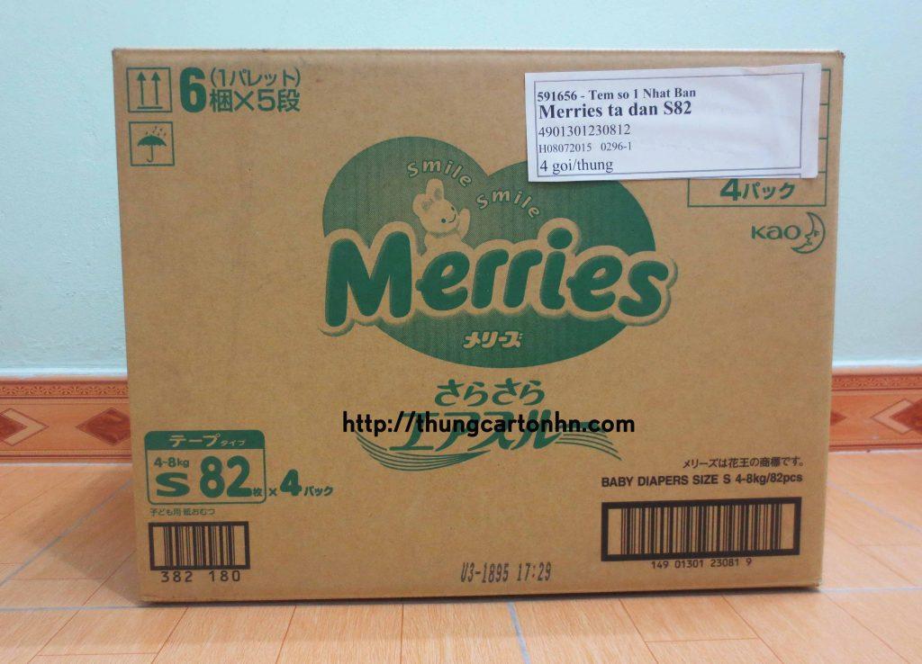 thùng carton cũ merries