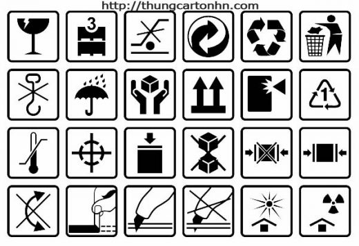 Tổng hợp các biểu tượng in trên thùng giấy carton