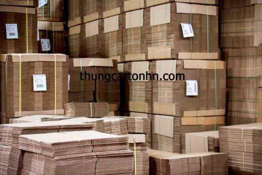 bảo quản và sắp xếp thùng carton