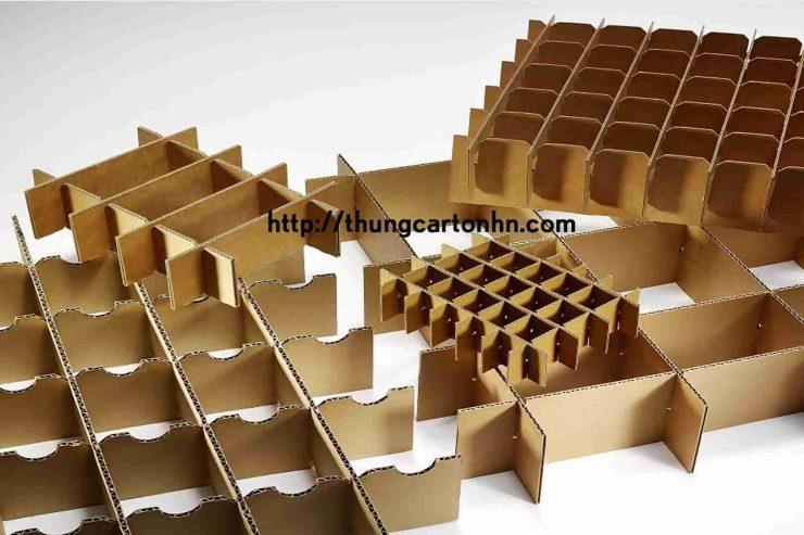 vách ngăn thùng carton 3 lớp