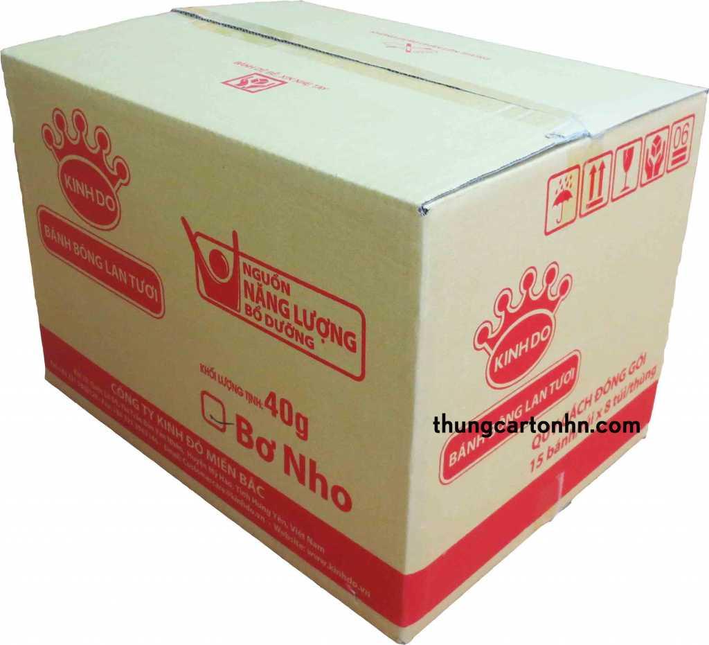 hùng carton cũ bánh bông lan tươi trên kích thước : Dài 50 rộng 38 cao 35