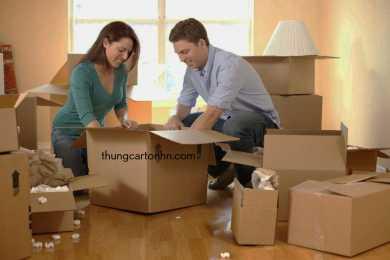thùng carton cũ chuyển nhà, thùng carton mới chuyển nhà
