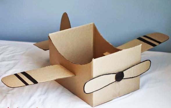 máy bay từ hộp carton