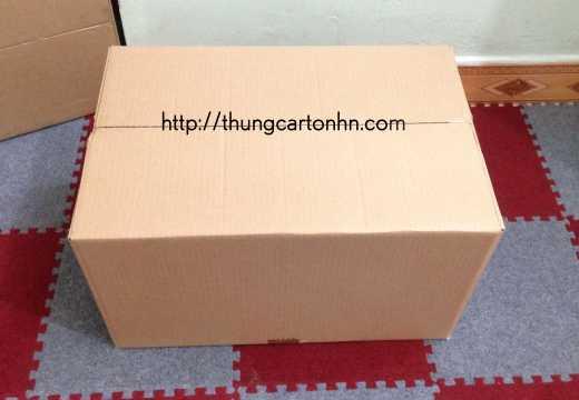 thùng carton không có chữ kích thước 52x34x32