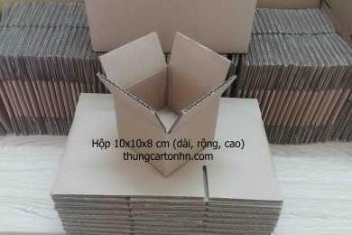 hộp carton 3 lớp 10x10x8  giá rẻ, tại hà nội