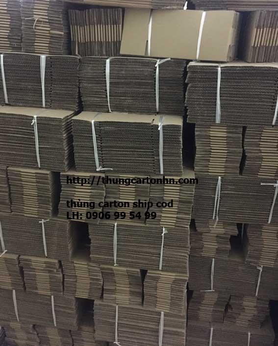 hộp carton ship cod các kích thước