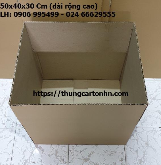 hộp carton ship cod, gửi hàng online 50x40x30 cm