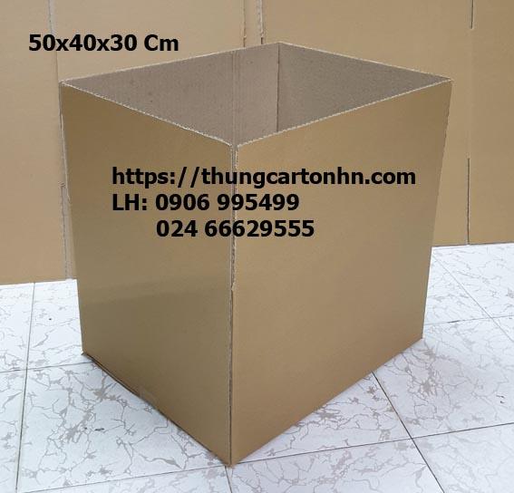 Thùng carton 3 lớp 50x40x30 Cm (dài rộng cao)